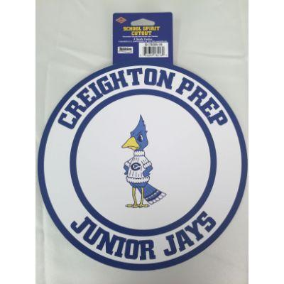 Creighton Prep Junior Jays Circle Cutout 14