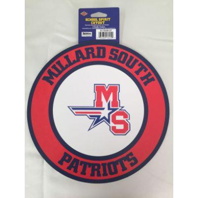 Millard South Patriots Circle Cutout 14