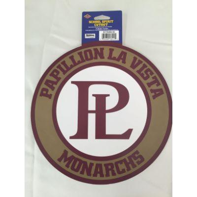 Papillion La Vista Monarchs Circle Cutout 14