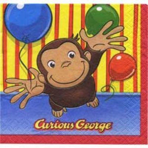 Curious George Luncheon Napkin 16 Pack