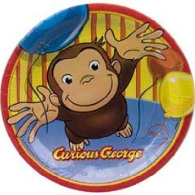 Curious George Dessert Plate 8 Pack