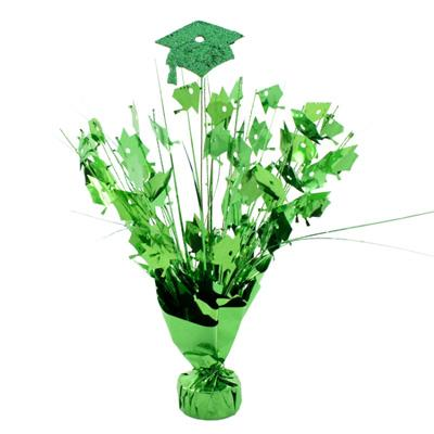 Green Graduation Cap Balloon Weight 14