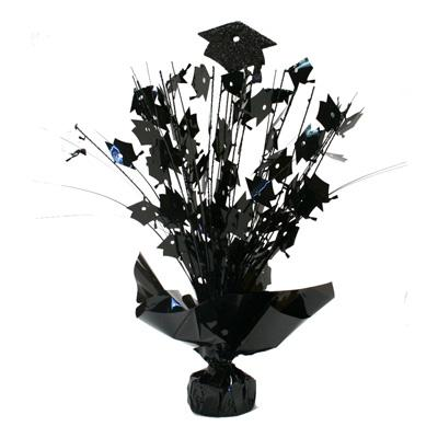 Black Graduation Cap Balloon Weight - 14