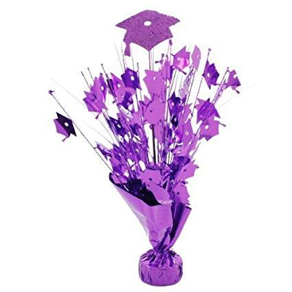 Purple Graduation Cap Balloon Weight - 14