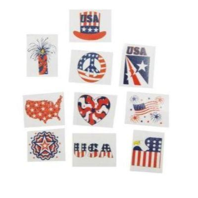 Patriotic Glitter Tattoo - 36 Pack