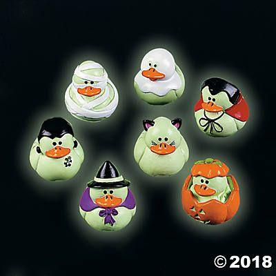 Glow In The Dark Halloween Rubber Duckies