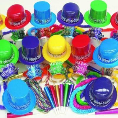 New Year's Party Kit For 100 - Colorful Showboat