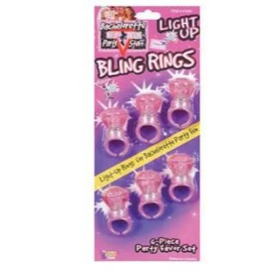 Bachelorette Light Up Rings - 6 Pack