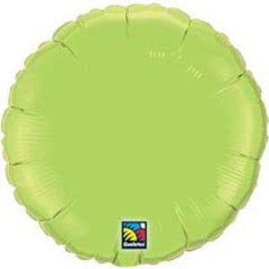 "Solid Lime Green Round 18"" Mylar Balloon"