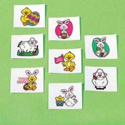 Easter Tattoos - 36 Pack Assorted