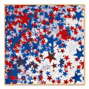 Red, White, Blue Stars Confetti .5 oz. Bag