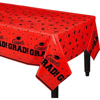 Red Graduation Tablecover 54