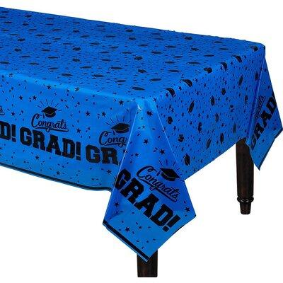 Blue Congrats Grad Tablecover 54