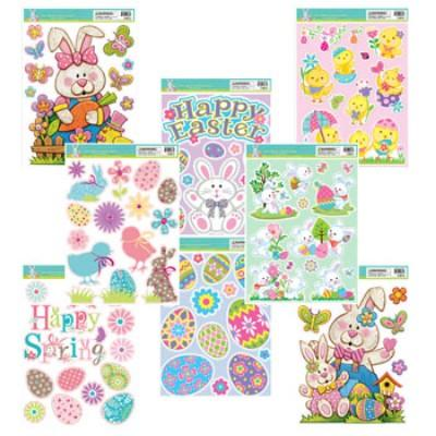 Easter Gel Window Cling Assorted