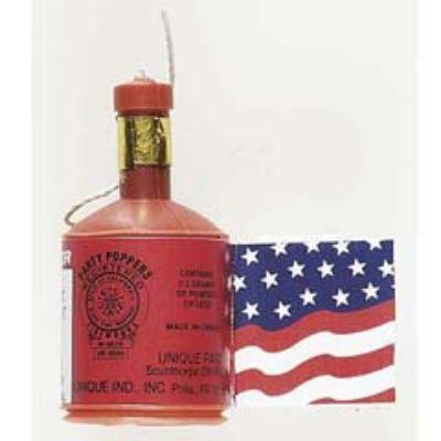 Patriotic Party Poppers - 12 Pack