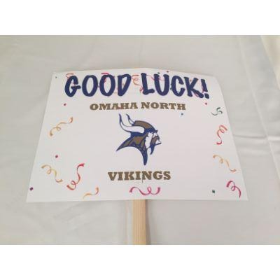 Omaha North Vikings Good Luck Yard sign 14