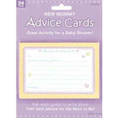 New Mom Advice Cards 24 Pack