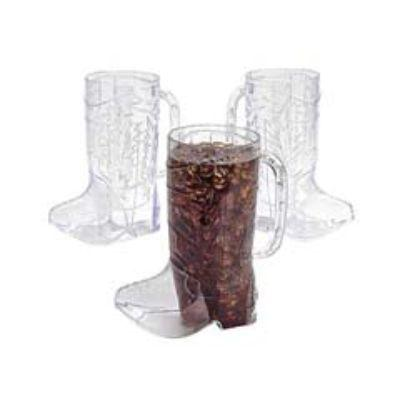 Clear Plastic Cowboy Boot Mugs