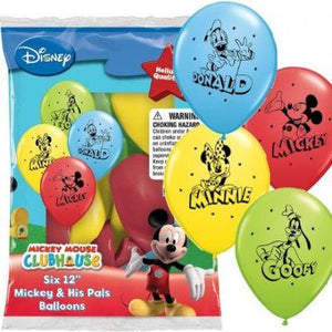 "Mickey & His Pals Latex Balloons 12"" - 6 Pack"