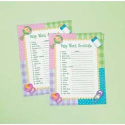 Baby Shower Word Scrambler Game