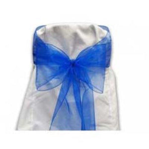 Royal Blue Chair Bow 6 Pack