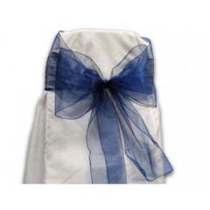 Blue Navy Chair Bow 6 Pack