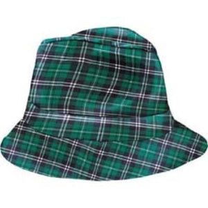 St. Patrick's Day Green Plaid Fedora
