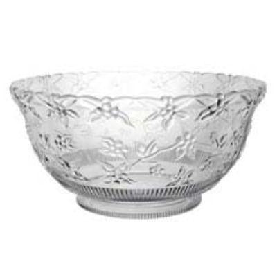 Clear Embossed Punch Bowl