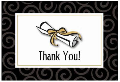 Graduation Thank You Cards - 50 Pack