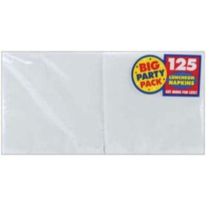Frosty White Big Party Pack Beverage Napkin - 125 Pack