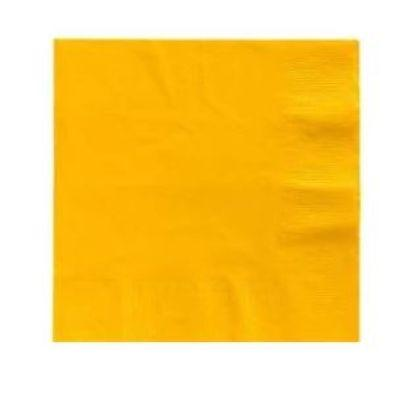Yellow Big Party Pack Luncheon Napkins - 125 Pack