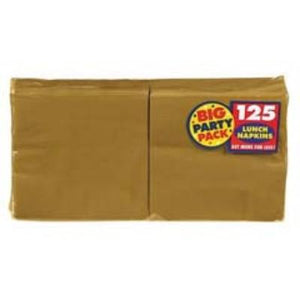 Gold Sparkle Big Party Pack Luncheon Napkin - 125 Pack