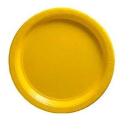 Yellow Big Party Pack Paper Dessert Plates 7