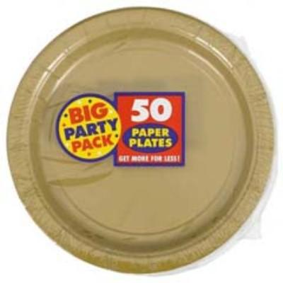 Gold Sparkle Big Party Pack Paper Dessert Plates 7