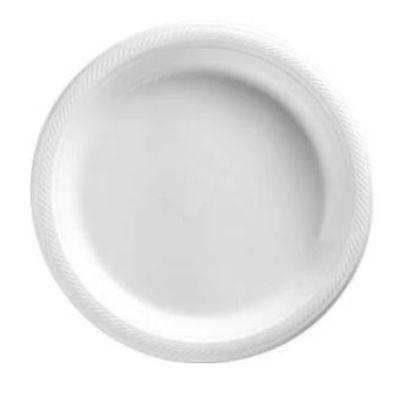 Frosty White Big Party Pack Plastic Dinner Plate 10