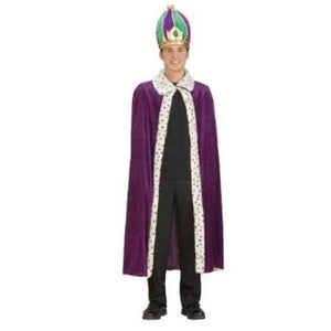 Mardi Gras Robe And Crown Costume Set