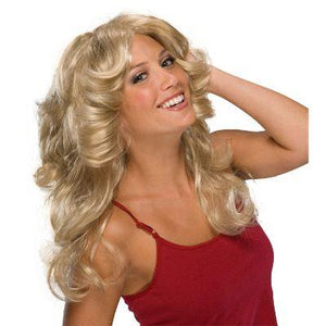 Wig 70s Flick Long Blond