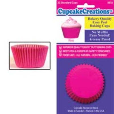 Pink Standard Paper Cups 32 Pack