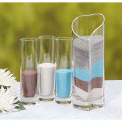 Unity Sand Heart Vase with Three Vases 4 Piece