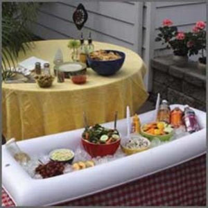 "Inflatable White Buffet Table 54"" x 22"""