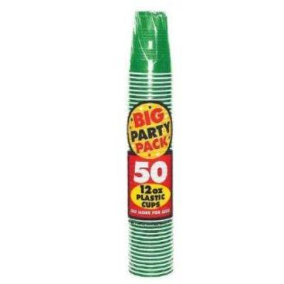 Festive Green Big Party Pack Plastic Cups 16 oz. - 50 Pack