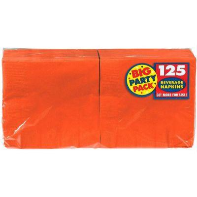 Orange Peel Big Party Pack Beverage Napkin - 125 Pack