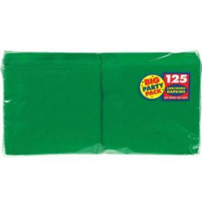 Festive Green Big Party Pack Luncheon Napkins - 125 Pack