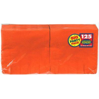 Orange Peel Big Party Pack Luncheon Napkin - 125 Pack