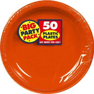 Orange Peel Big Party Pack Plastic Dessert Plates 7