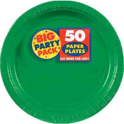 Festive Green Big Party Pack Paper Dinner Plate 9