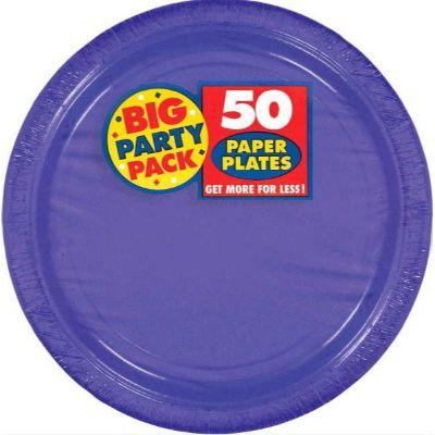 Light Purple Big Party Pack Paper Dinner Plates 10