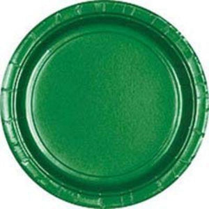 "Festive Green Big Party Pack Paper Dessert Plates 7"" - 50 Pack"