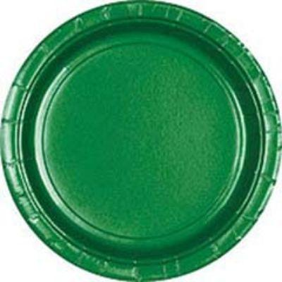 Festive Green Big Party Pack Paper Dessert Plates 7