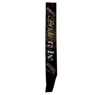 Bride To Be Deluxe Black Sash
